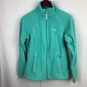Columbia Teal Green Zip Up Fleece
